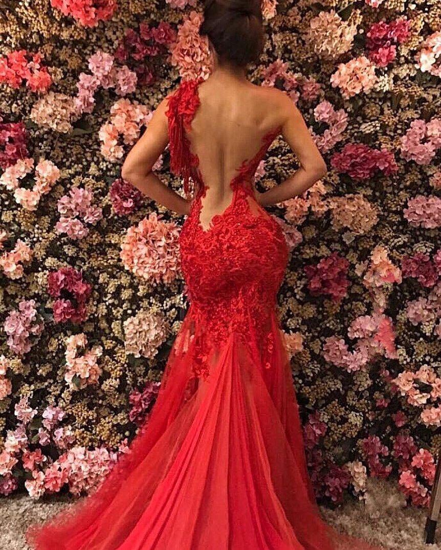 Elegante Abendkleider Lang Rot   Abiballkleider Mit