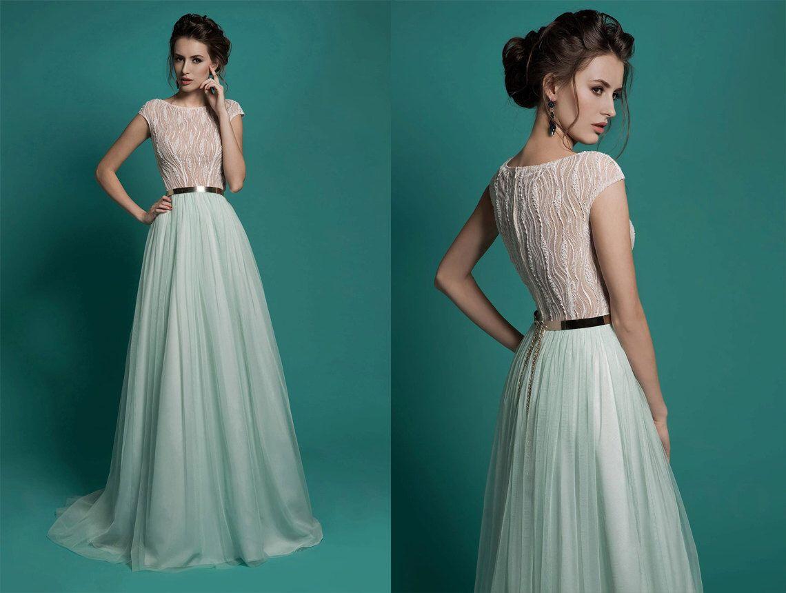 Elegantes Kleid, Chiffon Kleid, Hochzeit Spitzenkleid Boho