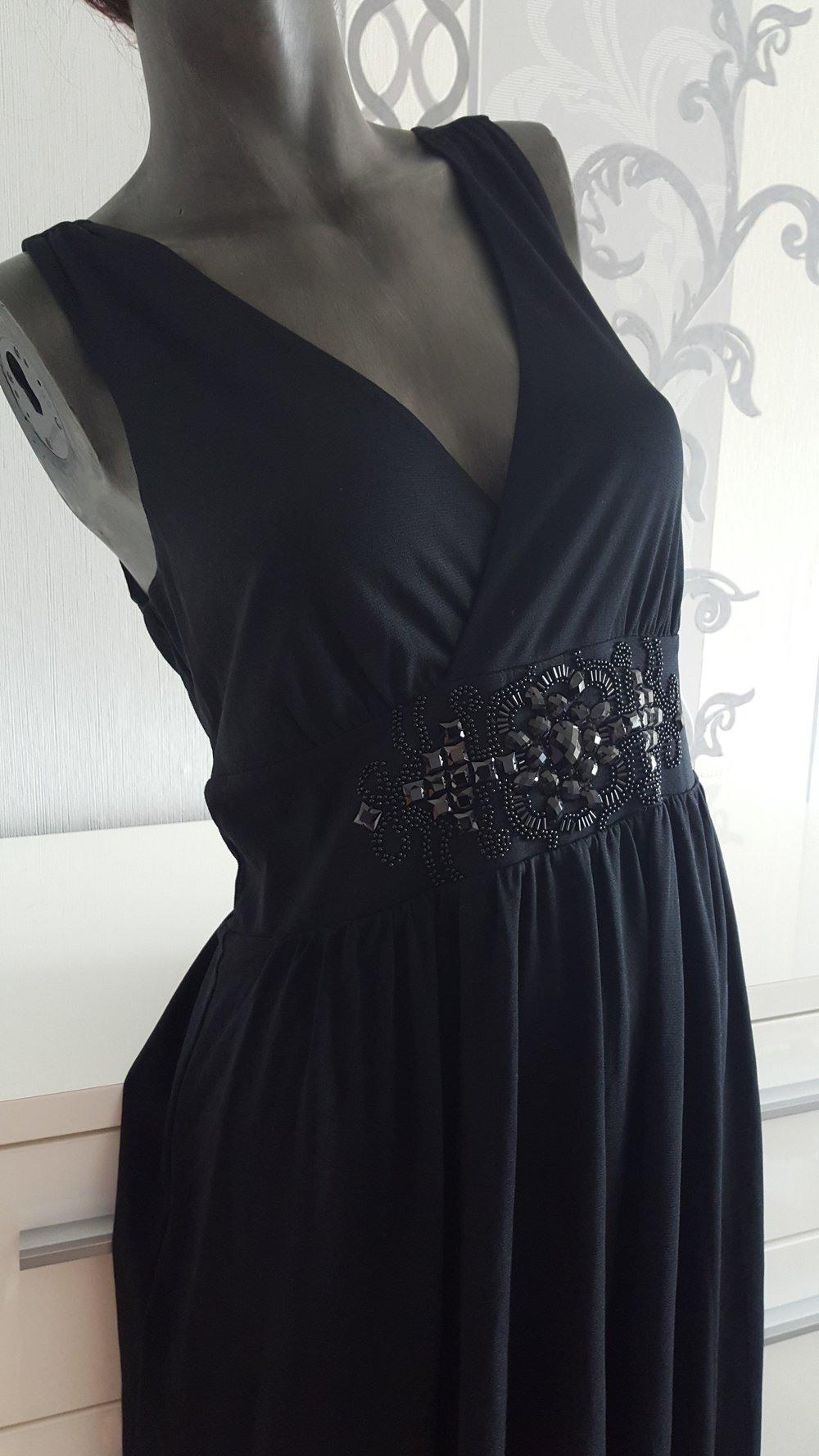 Elegantes Schwarzes Esprit Kleid Hochzeit Besondere Anlässe 40 42 L Xl  Evtl. 44 Da Dehnbar