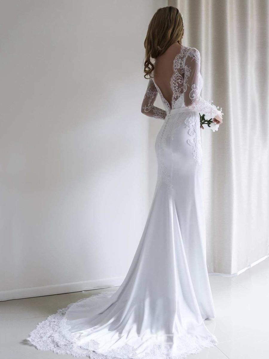 Ericdress Lange Ärmel Trompete / Meerjungfrau Hochzeitskleid
