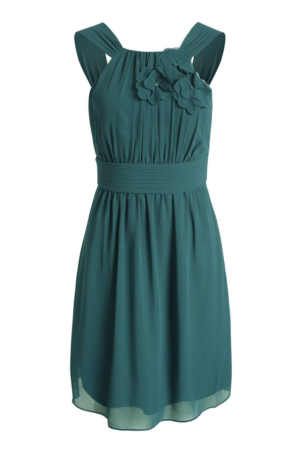 Esprit / Fließendes Chiffon-Kleid Mit Blüten | Kleider