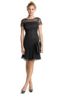 Esprit - Kleid Aus Spitze Mit Saumrüsche Im Online Shop