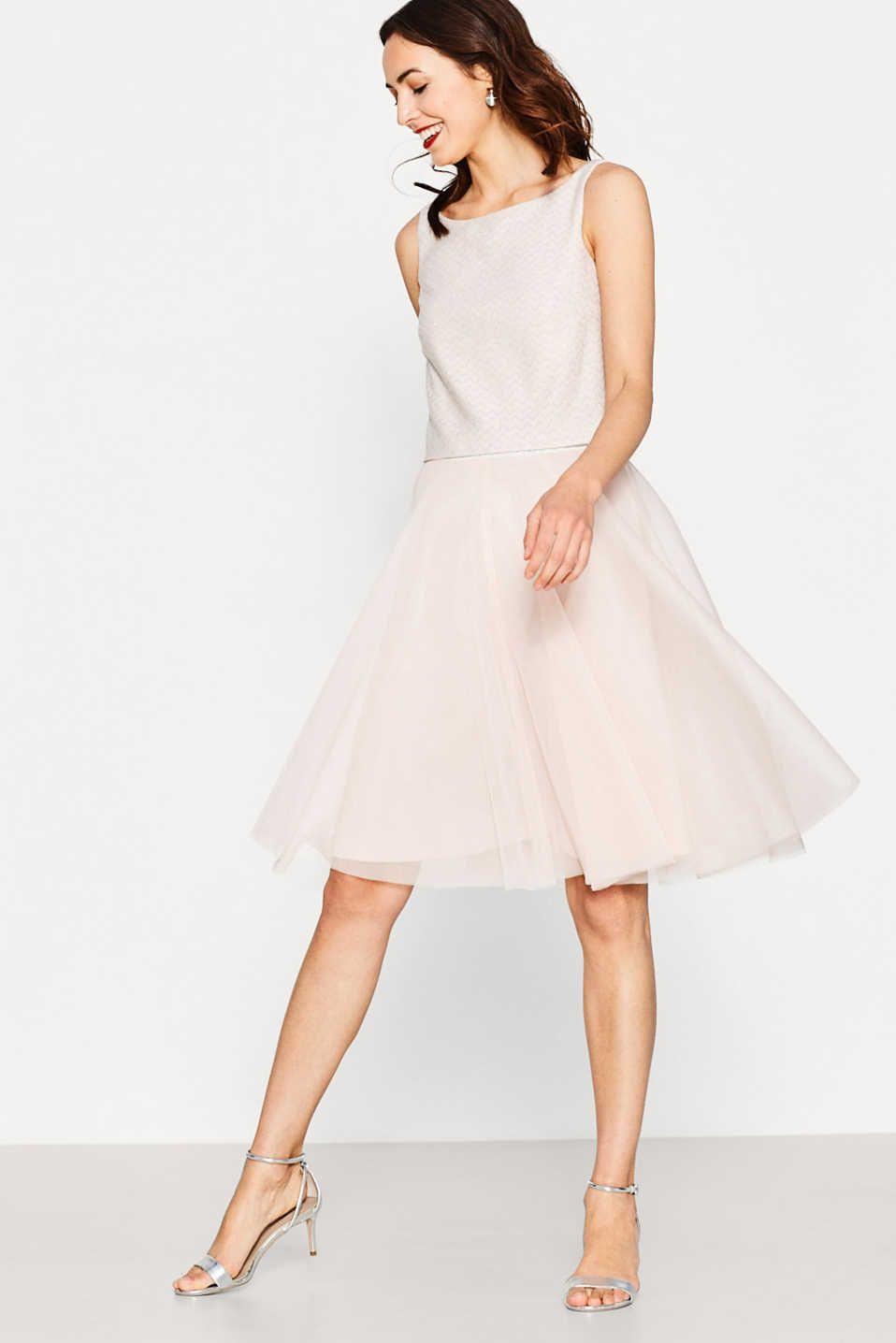 Esprit - Traumhaftes Kleid Aus Jersey Und Tüll | Modestil