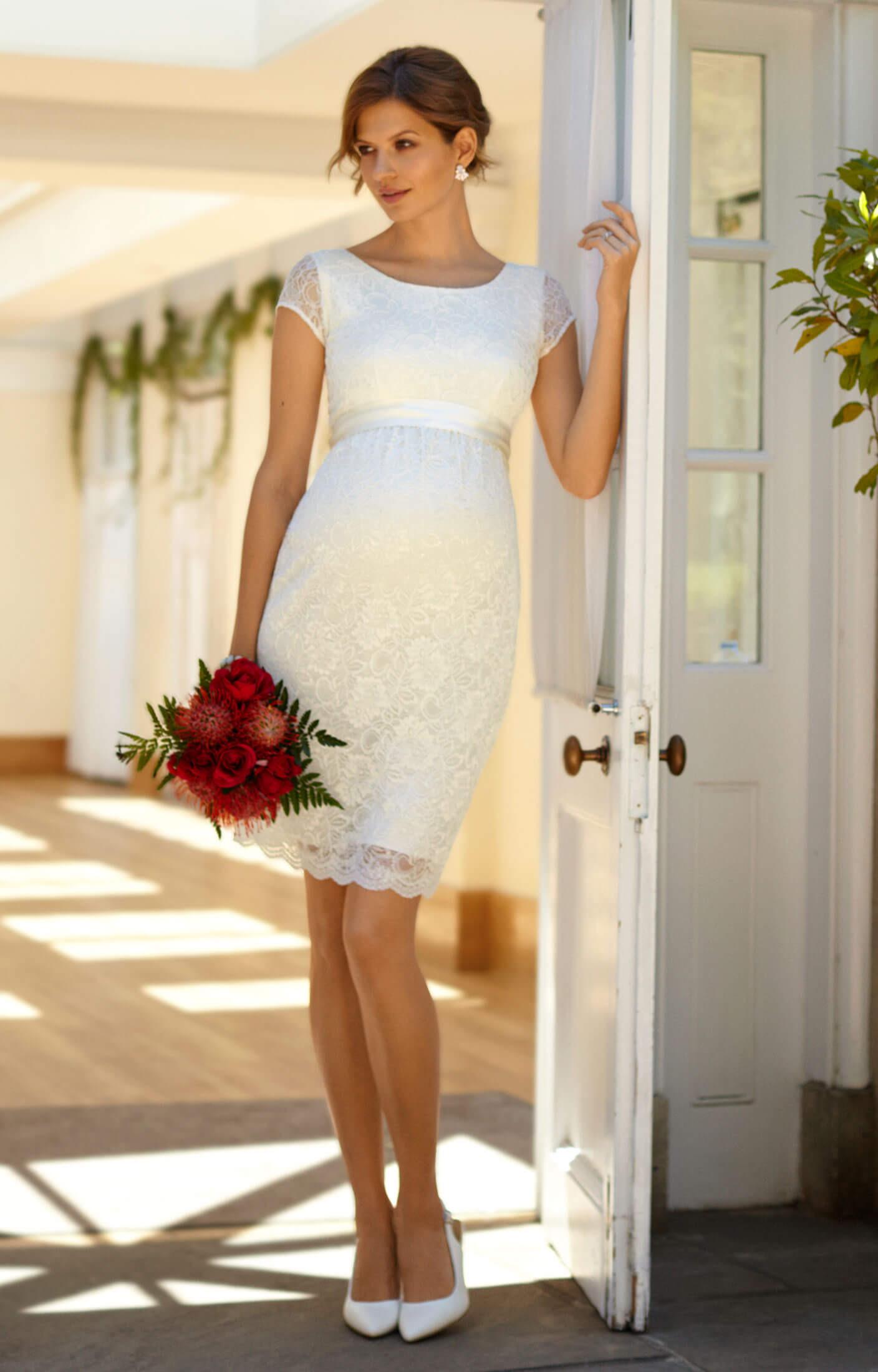 Etui-Hochzeitskleid Emma Ivory