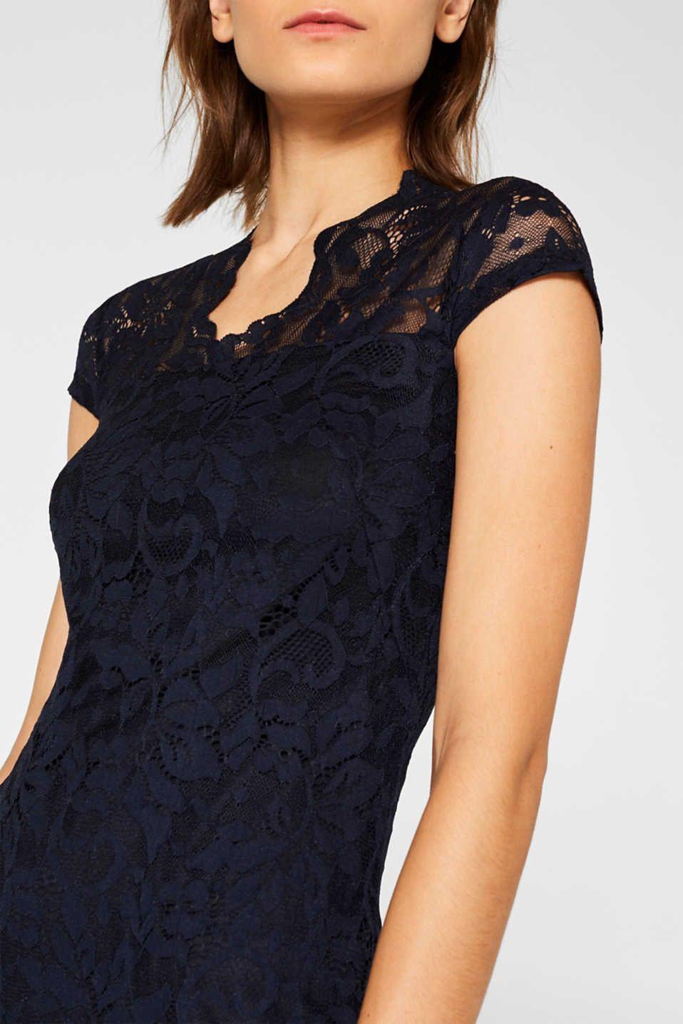 Etui-Kleid Aus Spitze Mit Stretchkomfort | Esprit | Kleid