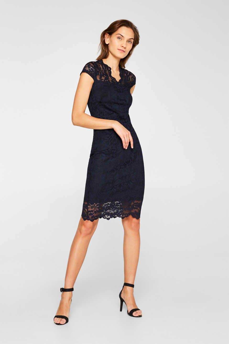 Etui-Kleid Aus Spitze Mit Stretchkomfort | Kleid Spitze