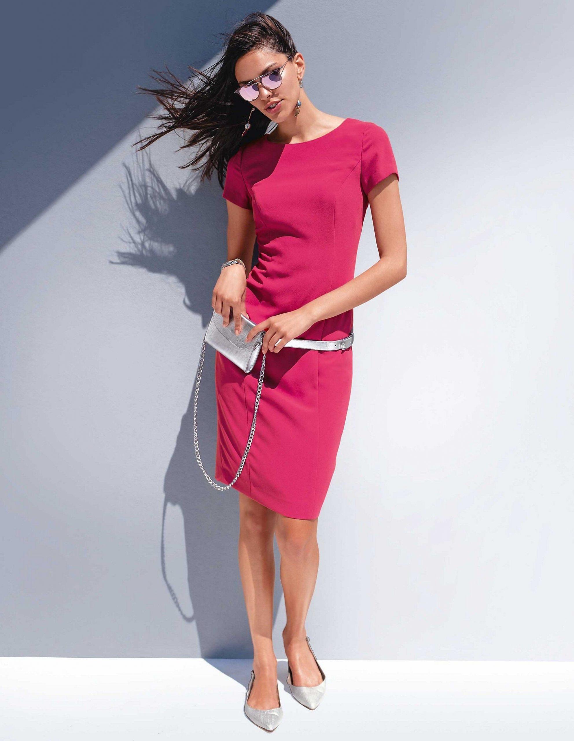Etuikleid Mit Halbarm, Erdbeerpink, Pink  Madeleine Mode - Abendkleid