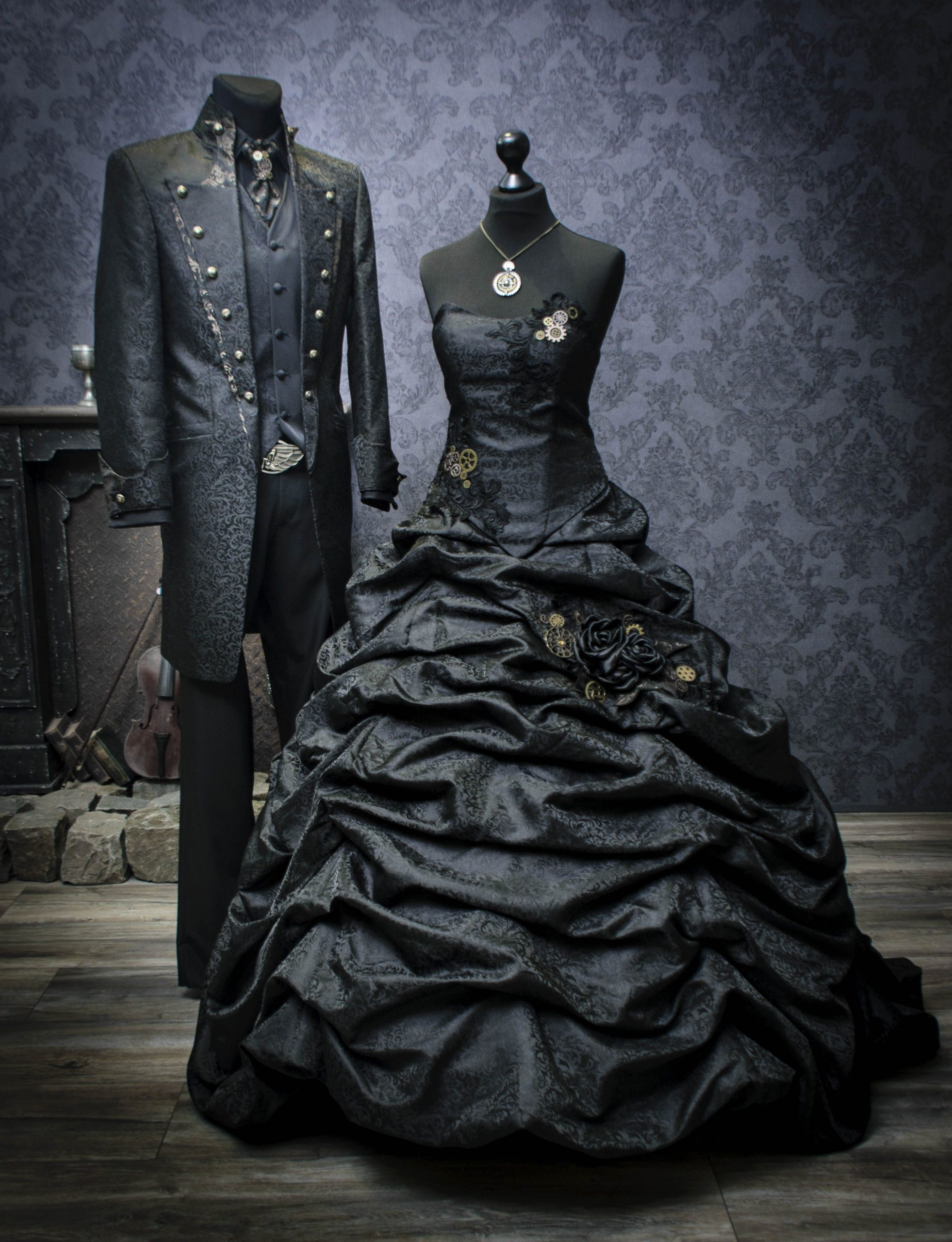 Extravagantes Brautkleid Für Die Steampunk-Hochzeit. Das