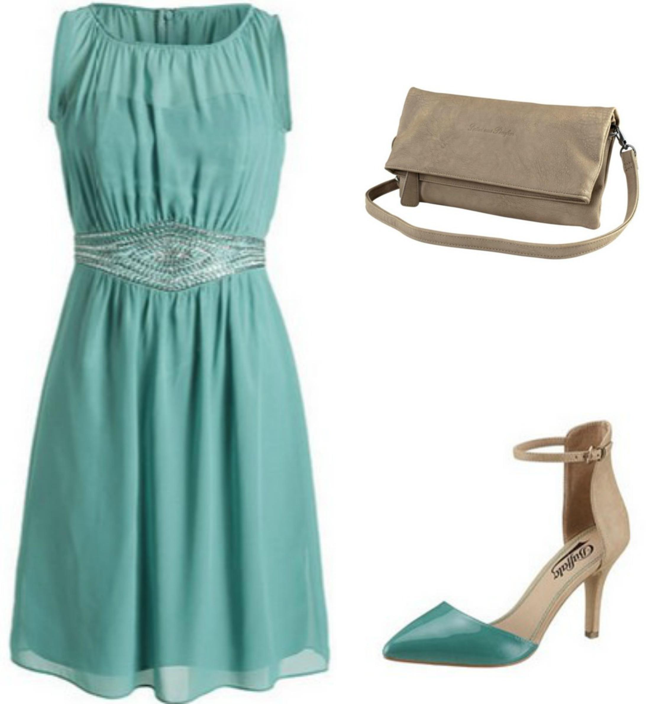 Fantastisch Kleid Türkis Hochzeit Galerie - Abendkleid