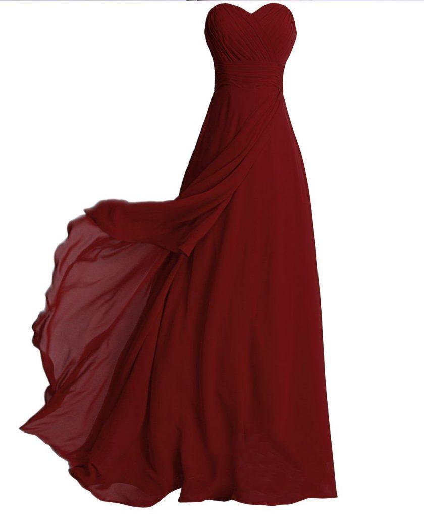 Fashion Plaza Chiffon Ohne Träger Langer Abendkleid Modul - Abendkleid