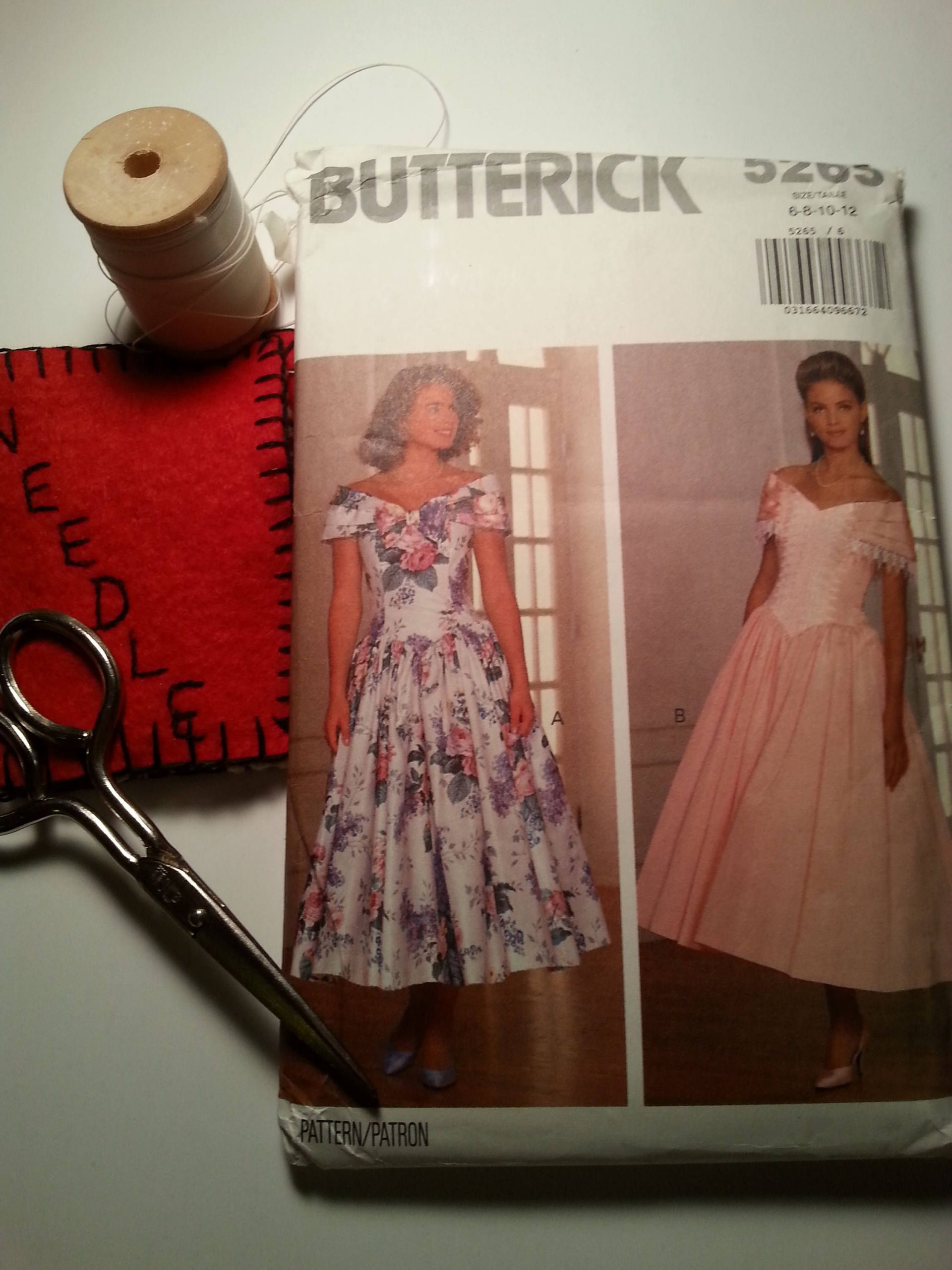 Formal Dress Pattern Butterick 5265 Vintage Prom Wedding