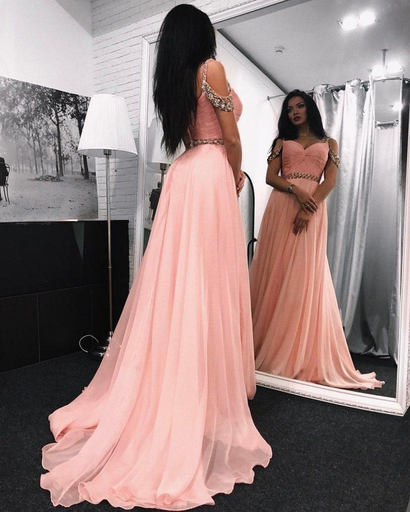 Luxus Abend Kleider In Rosa Bester PreisDesigner Top Abend Kleider In Rosa Ärmel