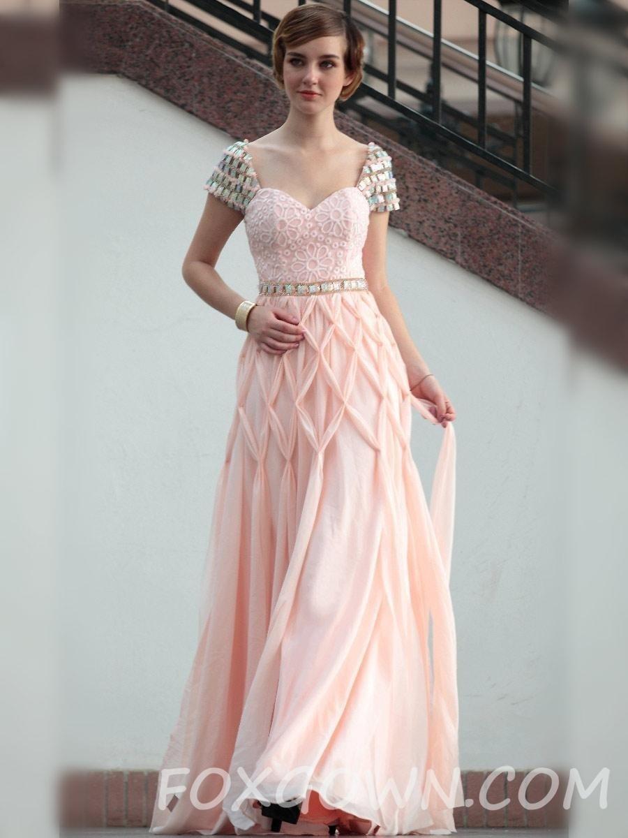 Formal Schön Kleid Festlich Rosa Stylish - Abendkleid