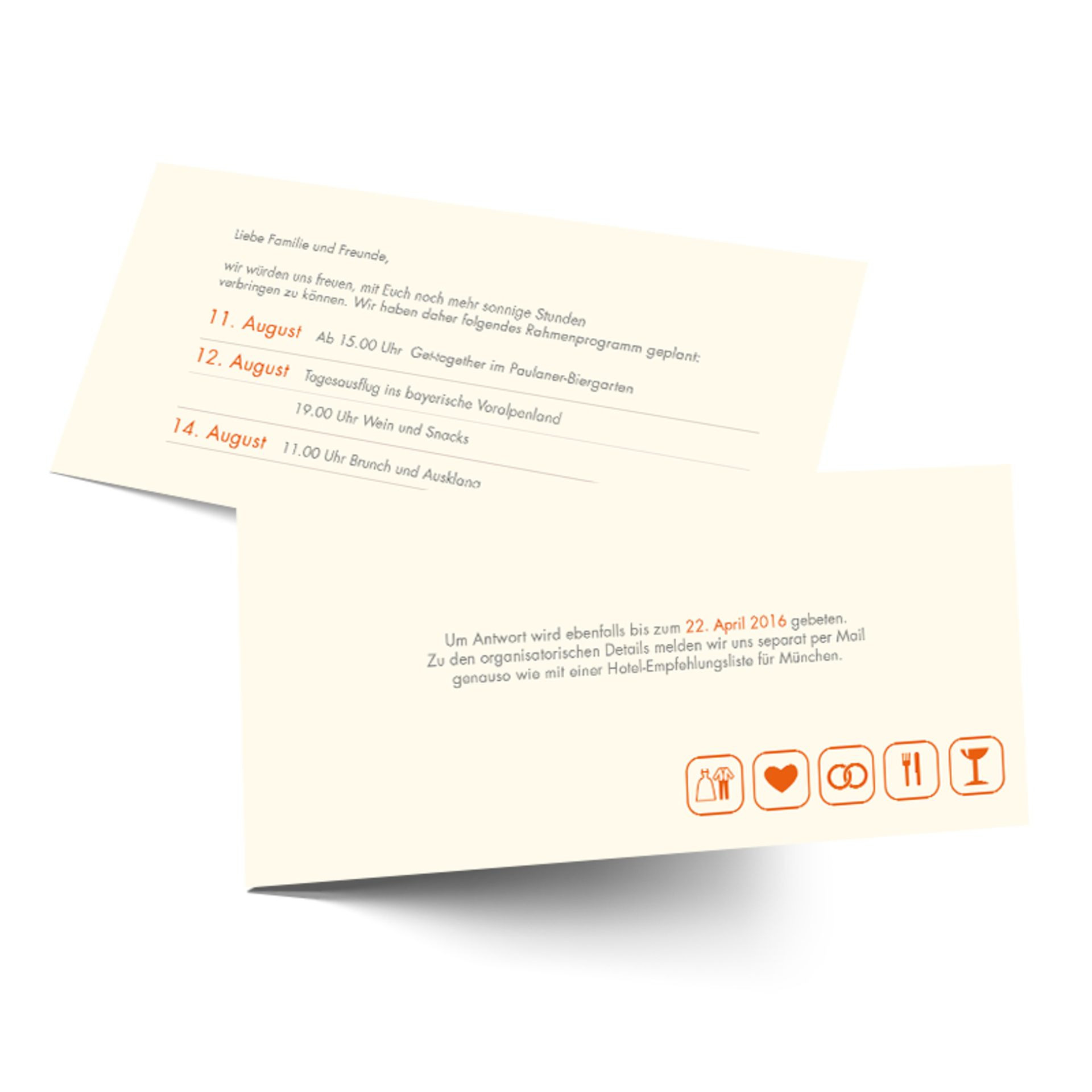 Formulierungshilfen Für Die Hochzeitsorganisation - Beispiele