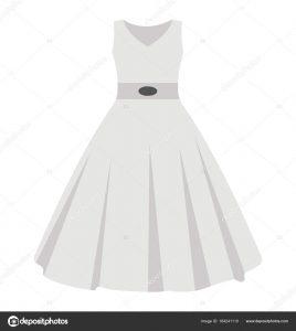 Frau — Vektor Ohne Ärmel Stockvektor Festliche Kleid Flache