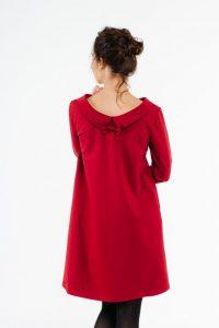 Frauen Rotes Kleid, Hochzeit Gästekleid, Elegantes Kleid