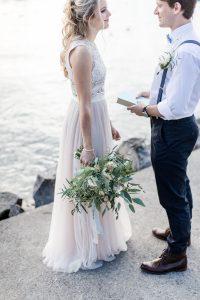 Freie Trauung Am Vierwaldstättersee | Hochzeitskleid Lang