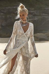 Galerie Mit Hochzeitsideen | Hippie Hochzeitskleid