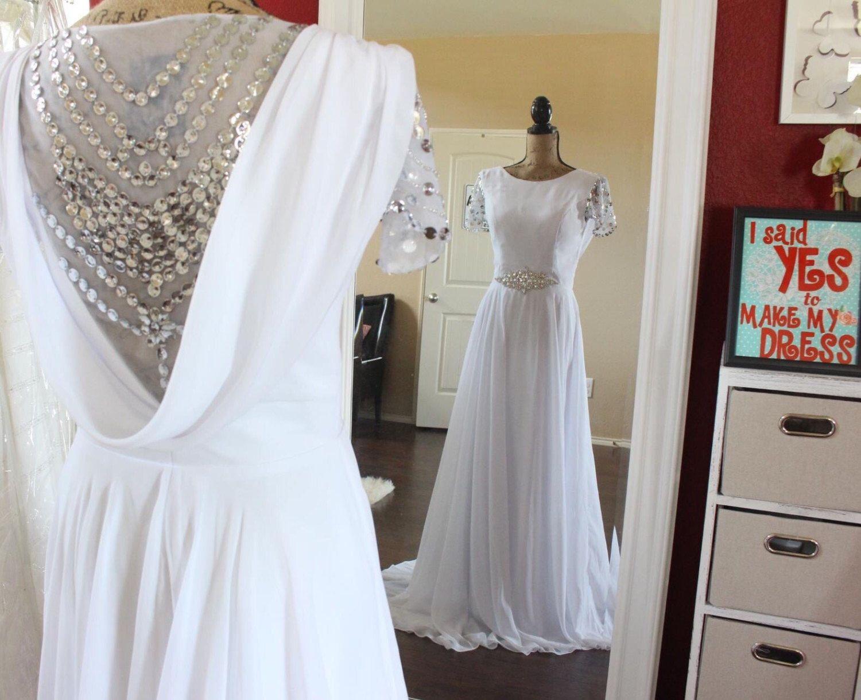 Gatsby Hochzeit Kleid Chiffon Viktorianischen Brautkleid