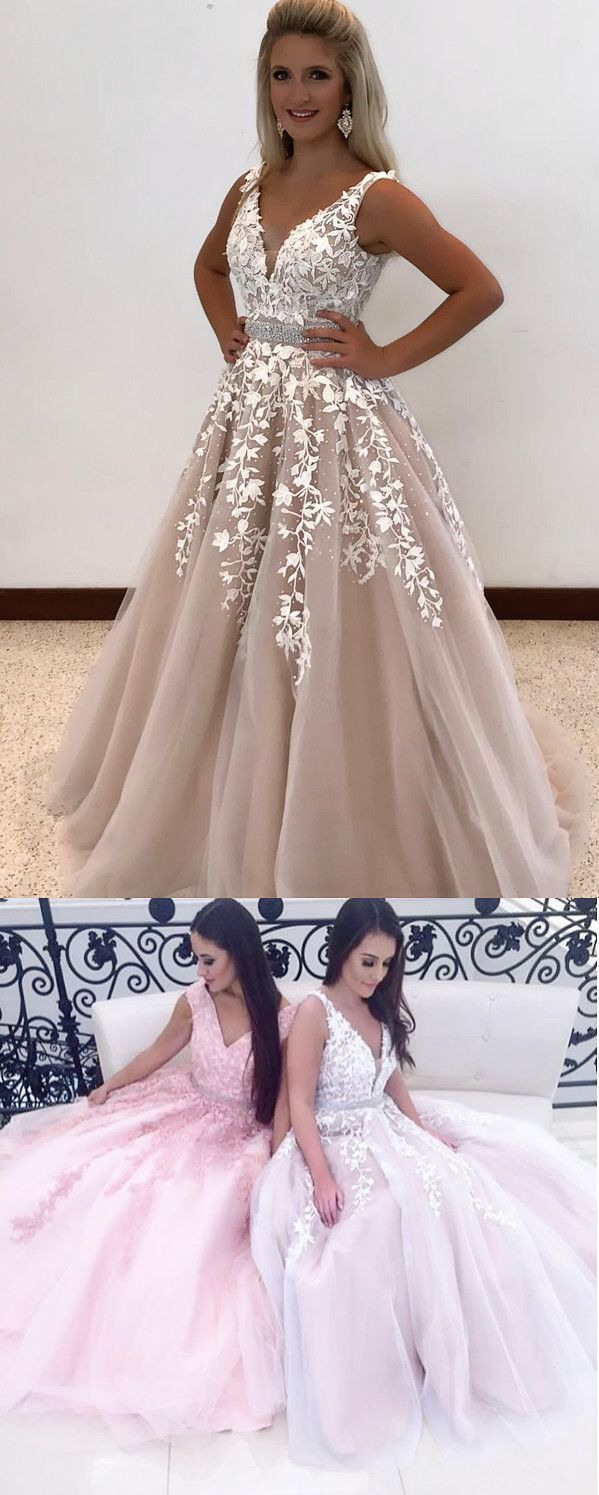 Gorgeous A-Line Long Wedding Dress Prom Dress From Modsele