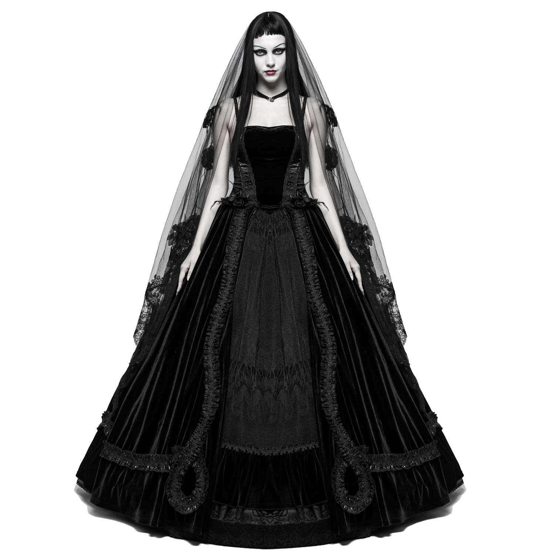 Gothic Hochzeitskleid Aus Samt Mit Spitze | Voodoomaniacs