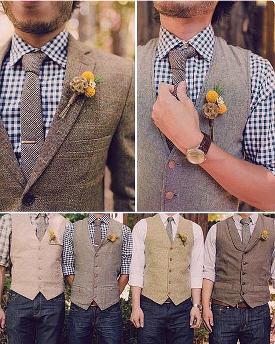 Groomsmen Vintage Style Wedding Wear | Hochzeit Westen