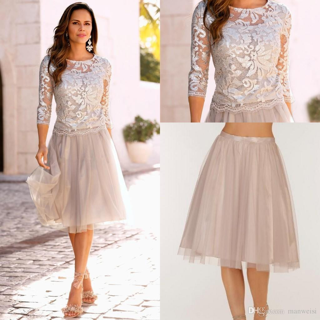 Großhandel 11 Elegante Boho Mutter Der Braut Kleid Spitze Tulle