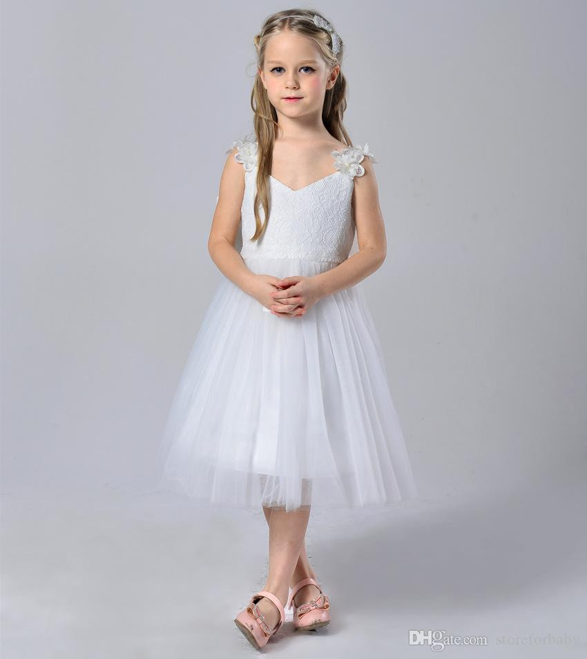 Großhandel Bogen Prinzessin Hochzeitskleid Kinder Brace Mädchen Ballkleid  Kinder Backless Hauchkleid Kind Mädchen Tutu Kleid Show Hostess Kostüme Von