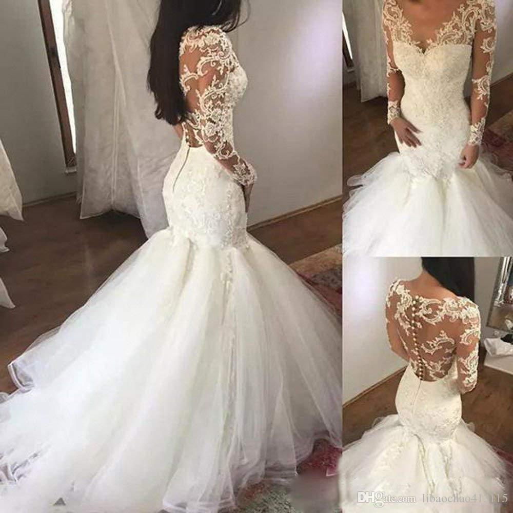 Großhandel Frauen Luxus Halfter Meerjungfrau Brautkleid Brautkleid