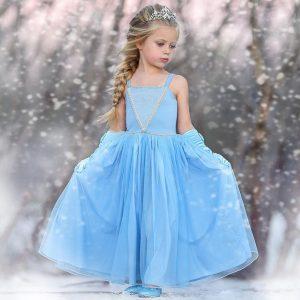 Großhandel Heißer Verkauf Blumenmädchen Kleid Für Hochzeit / Party  Prinzessin Kleid Hellblau Tüll Mit Baumwolle Liner Von Zhuluck, 37,6 € Auf