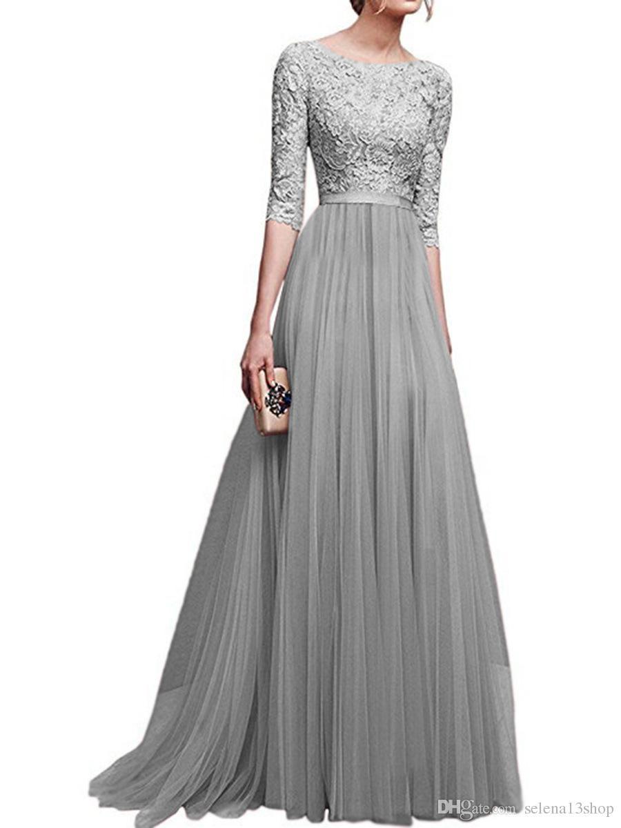 Großhandel Langarm Abendkleid Chiffon Faltenrock Abendkleider Maxi Kleid  Sexy Luxus Dünnes Kleid Frau Hochzeit Rock Designer Party Kleid Von
