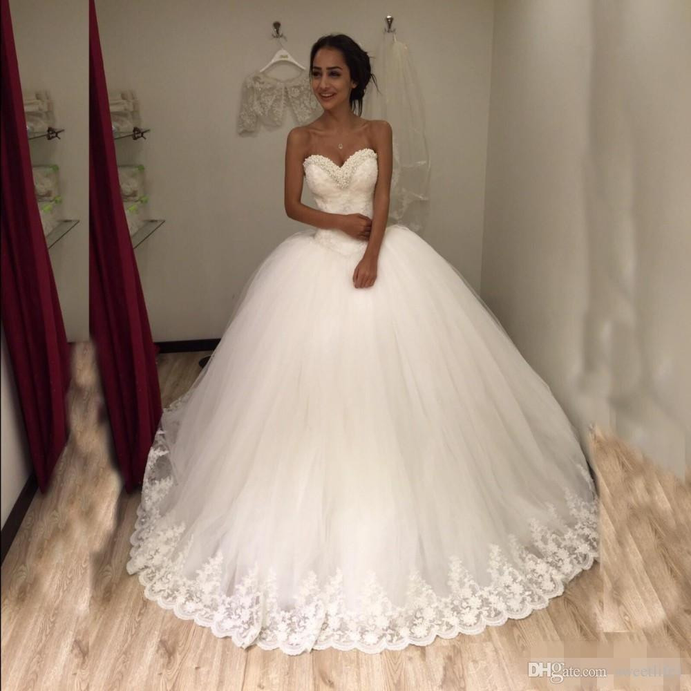 Großhandel Princess Perlen Lace Up Brautkleider Schatz Türkei Ballkleid  Sexy Brautkleider 2019 Vestidos De Noiva Von Sweetlife1, 120,66 € Auf