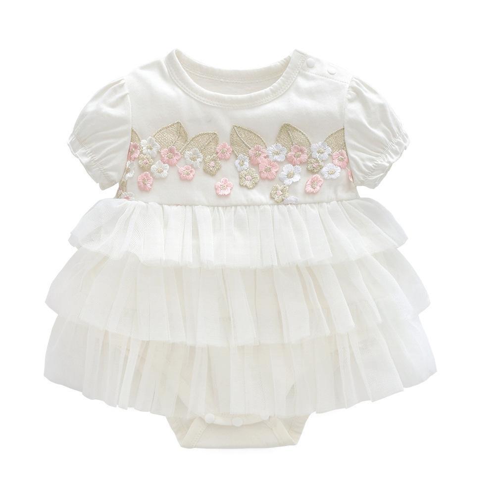 Großhandel Sommer Baby Mädchen Kleid Taufe Für Neugeborene Baby Mädchen  Kleidung Rosa Kinder Blumenkleider Für Mädchen Hochzeit Baby Kleidung Von