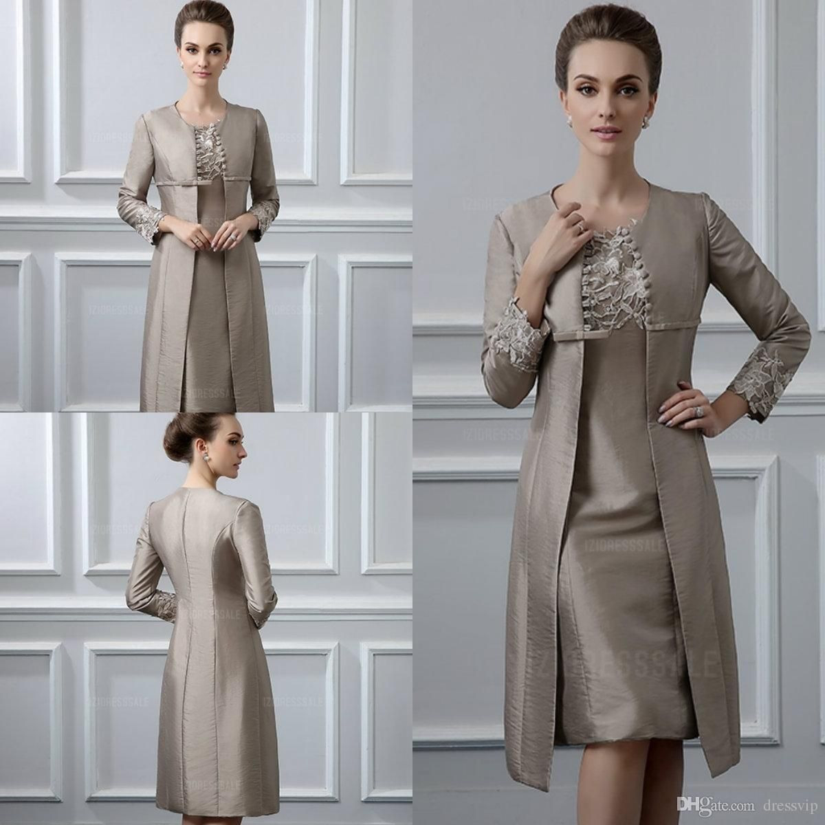 Großhandel Zweiteilige Mutter Der Braut Kleider Mit Jacke