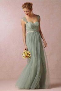 Günstige Elegante Einfache Lange Brautjungfer Kleid 2016