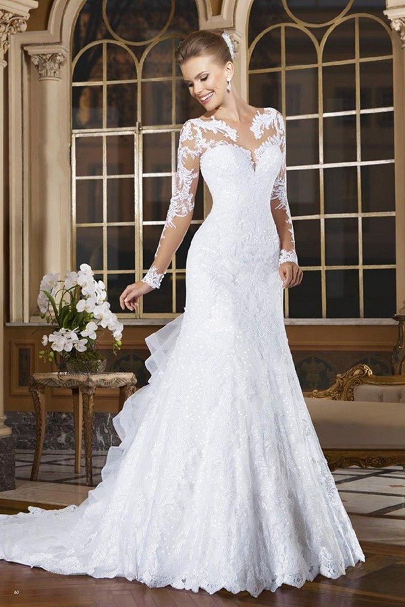 Günstige Meerjungfrau Hochzeitskleid Vestido De Noiva 2015