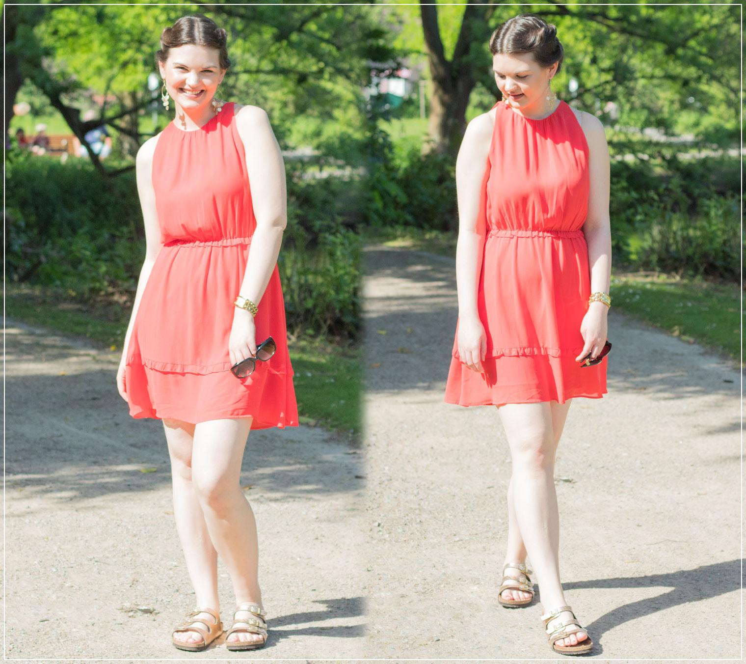 Hallo, Sommer! Ein Rotes Sommerkleid Und Tierische