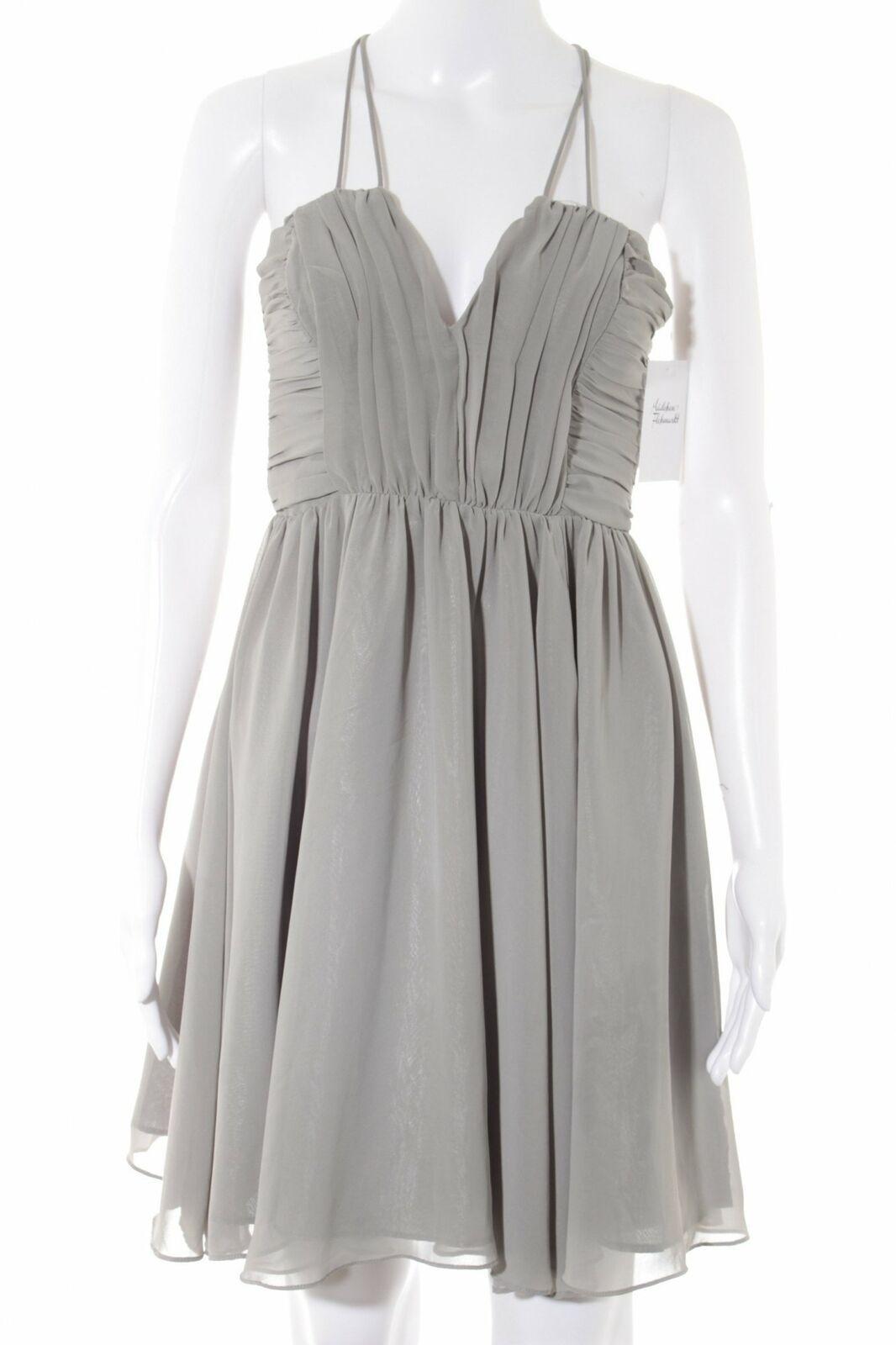 H&m Cocktailkleid Grau Elegant Damen Gr. De 34 Kleid Dress