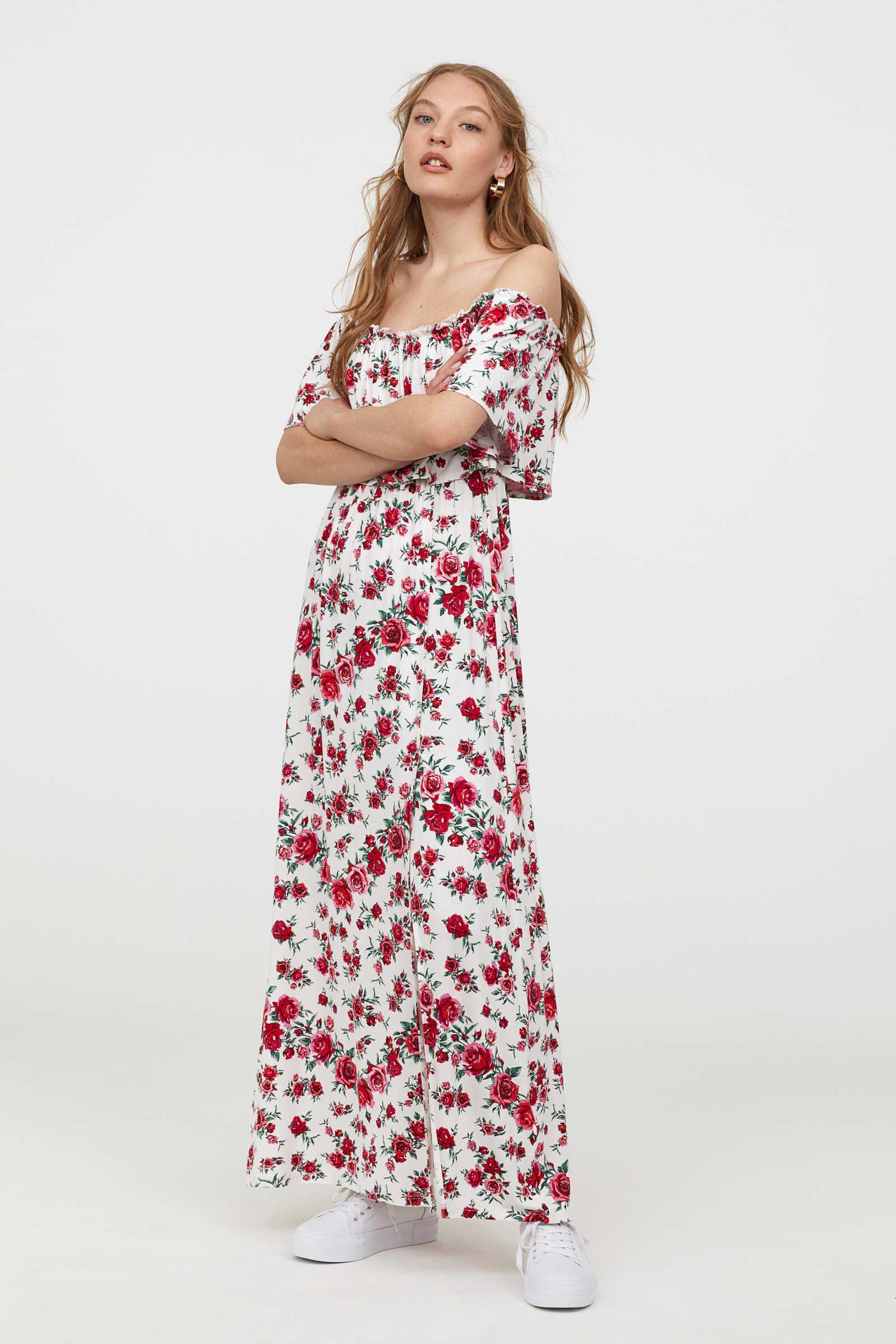H&m Kleid In Boho Look | Modestil, Kleider H&m - Abendkleid