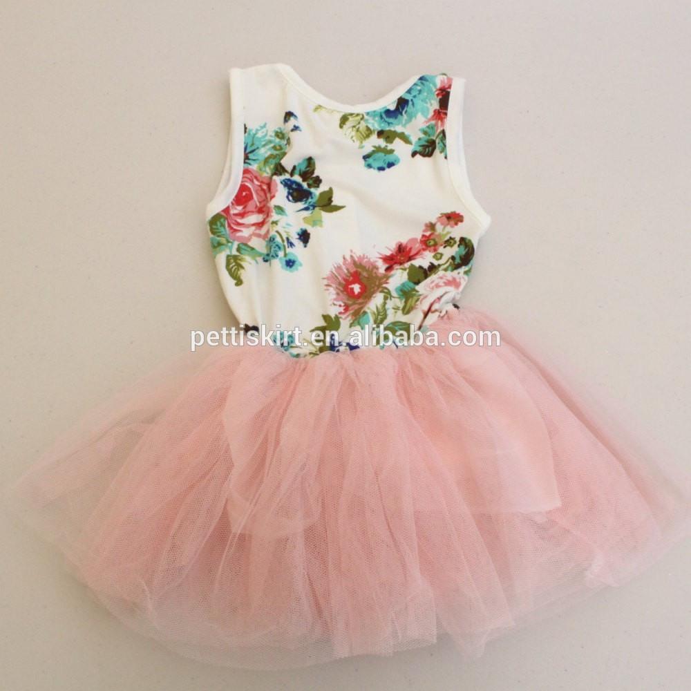 Hochzeit Brautjungfer Kleider Kinder Blumenmuster Tüll Kleid Boutique Baby  Mädchen Partei Tank Top Design Kleid Kleid - Buy Baby Party Kleid,hochzeit