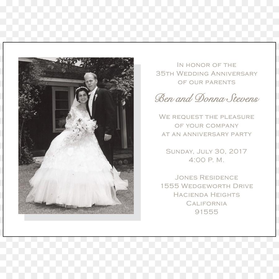 Hochzeit Einladung Hochzeit Kleid Braut Jubiläum - Feier