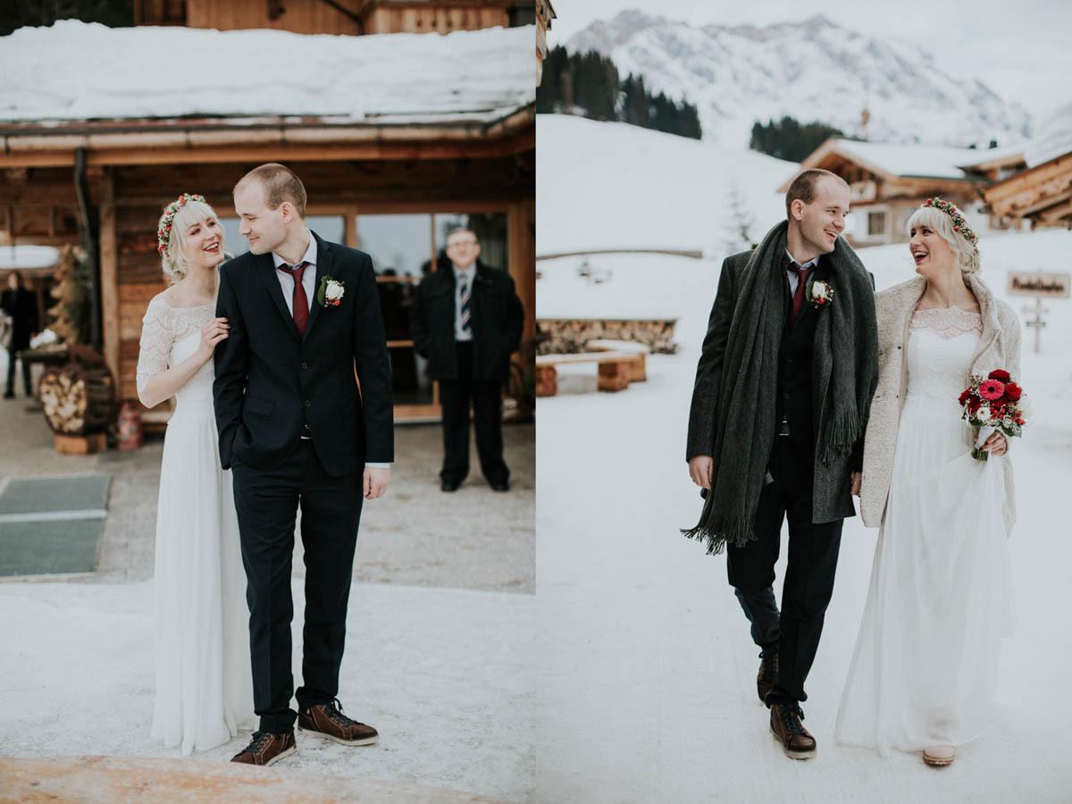 Hochzeit Im Schnee – Intime Winterhochzeit Auf Der Alm