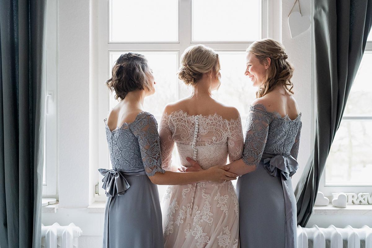 Hochzeit Im Winter Kleidung Brautjungfern - Winterhochzeit