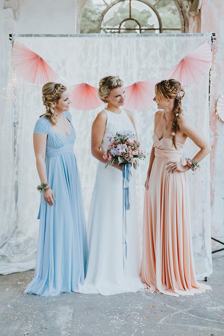 Hochzeit In Rosa Und Hellblau