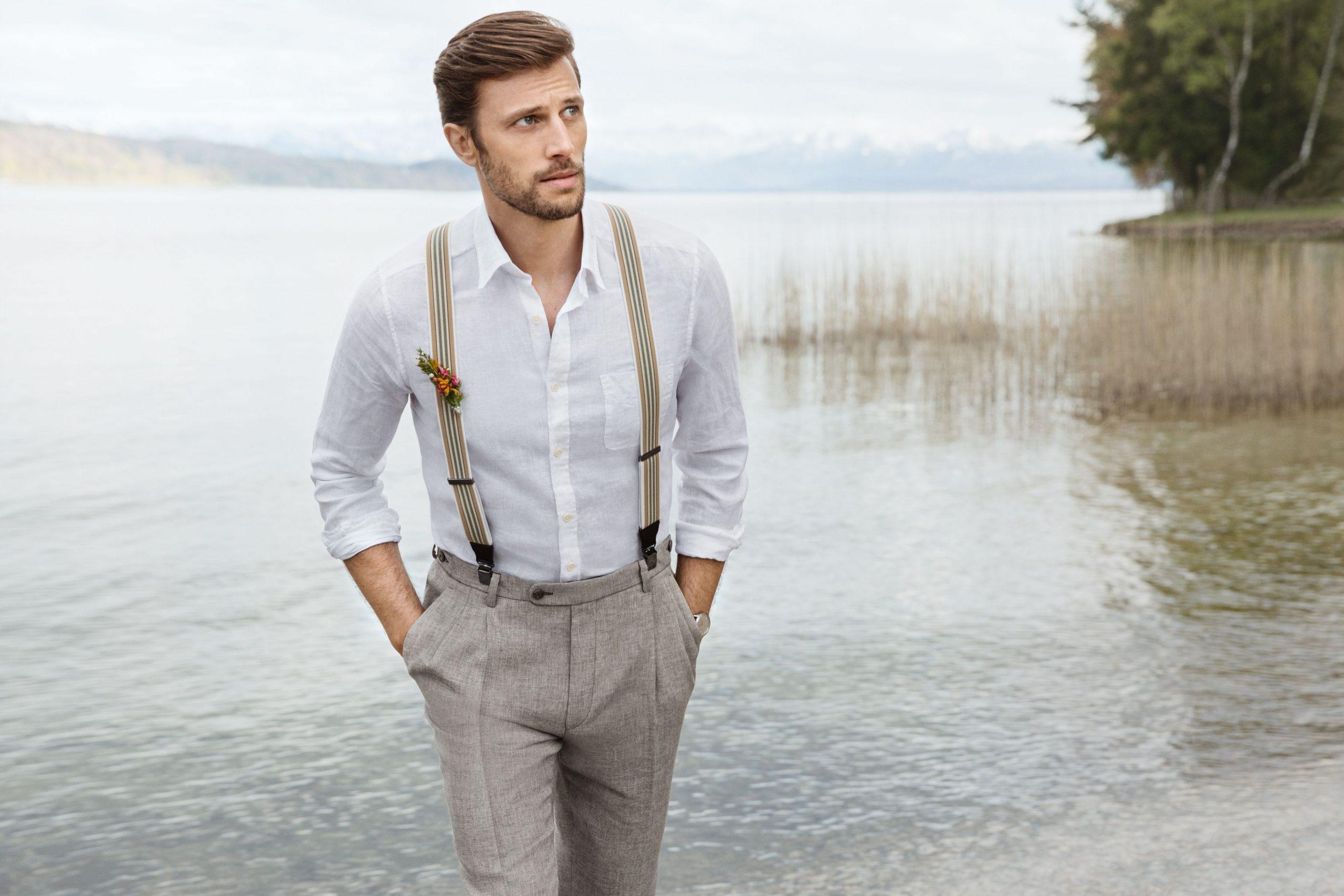 Hochzeitsanzug Im Vintage-Look – Mit Leinenhose Und