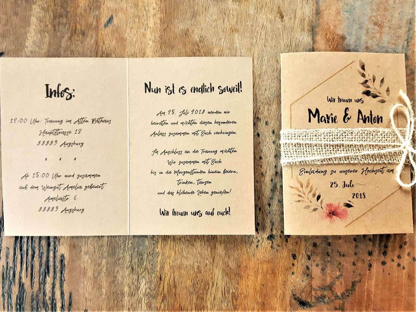 Hochzeitseinladung Text-Vorlagen Und Beispiele | Große Übersicht
