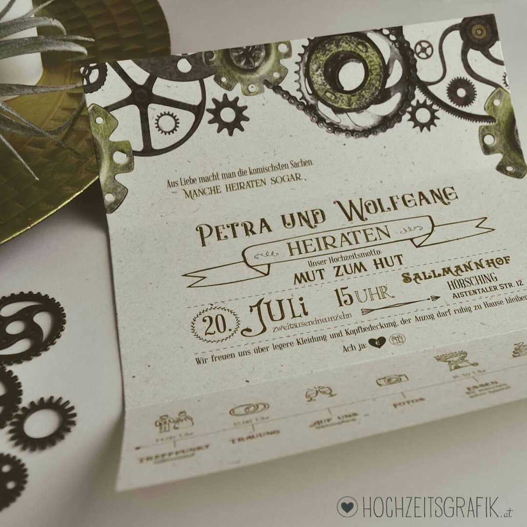 """Hochzeitseinladungen Zum Thema """" Industrial Steampunk"""" Desig"""