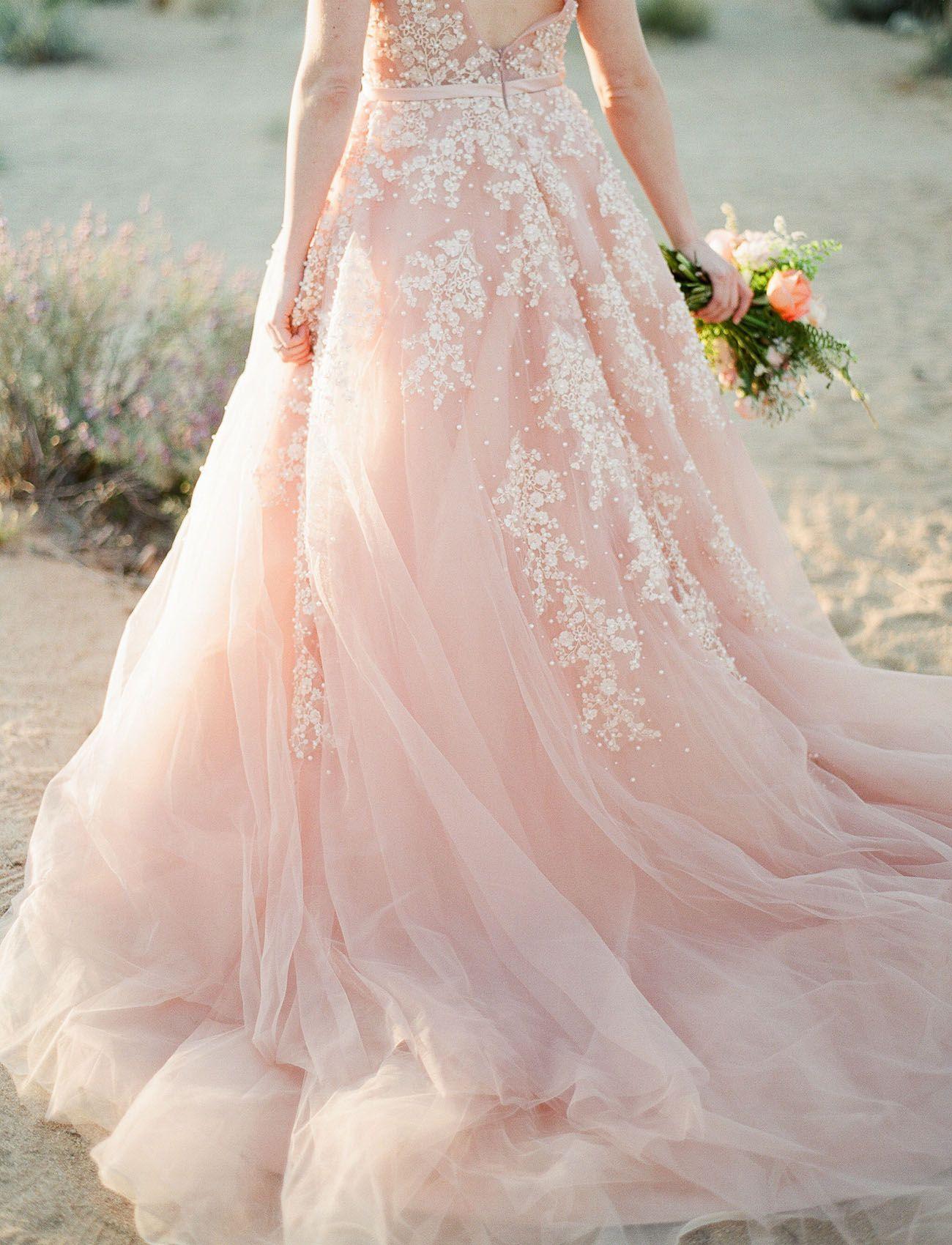 Hochzeitskleid Blush Rose  Kleid Hochzeit, Pinkfarbene - Abendkleid