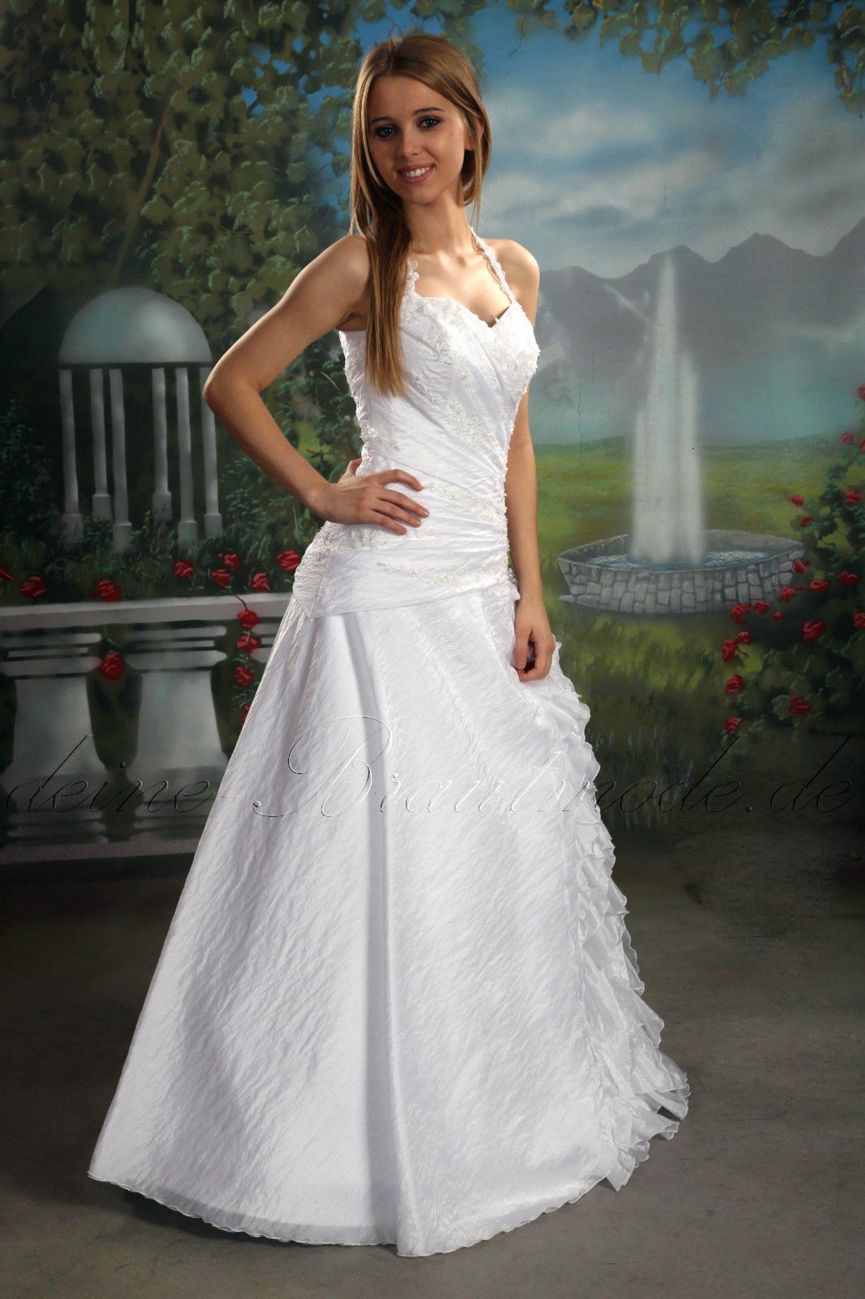 Hochzeitskleid Brautkleid Neckholder Kleid Ballkleid