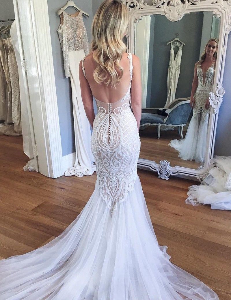 Hochzeitskleid Eng | Meerjungfrau Hochzeitskleid